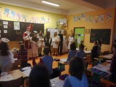 Mikuláš, čert, andílci .... z 9. třídy